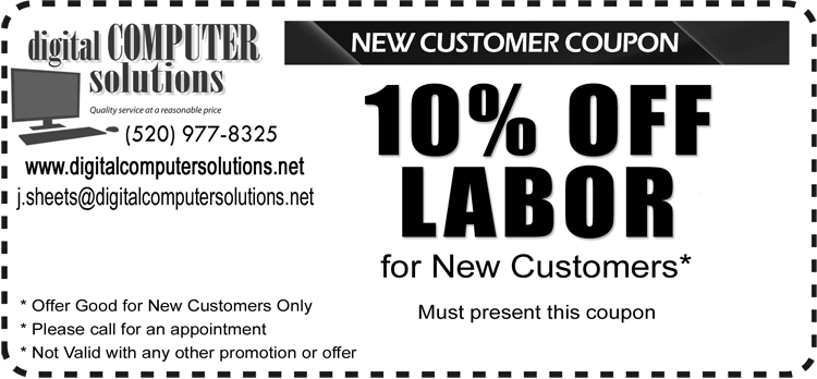 Computer Repair - 10% Off Labor for New Customers